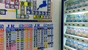 電車の割引切符の自動販売機