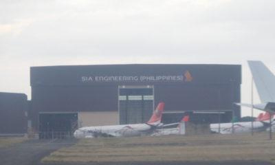 クラーク国際空港のトランスアジア航空機