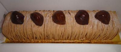 Japanese chestnut cake Mont Blanc