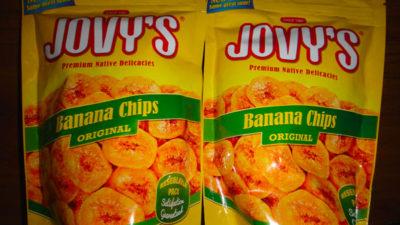 フィリピンのJOVY'Sのバナナチップス