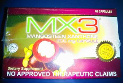 フィリピンのマンゴスチンサプリメントMX3