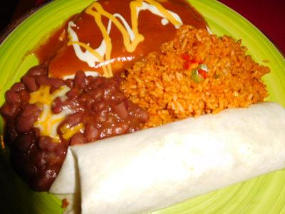 アンへレスのIguana'sのメキシコ料理セット