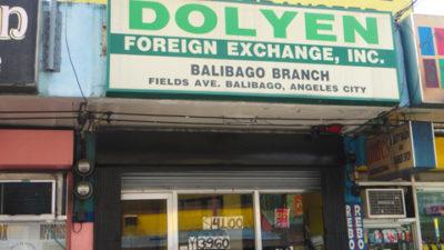 アンへレスの両替屋DOLYEN Foreign Exchange