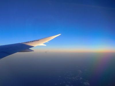 ANAのボーイング787からの空
