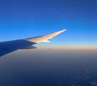 ANAマニラ羽田便のボーイング787の主翼