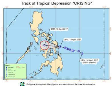 出典:フィリピン気象天文庁(PAGASA)