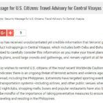 【危険】アメリカ大使館がセブ島やボホール島でのテロリストによる誘拐を警告