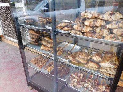 ダバオのおいしいマグロ食堂LUZ KINIRAWの焼きマグロ