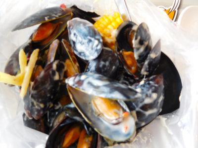 ダバオおいしいシーフードレストランChoobi Choobiのムール貝