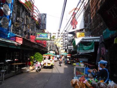 バンコクのソイカウボーイの屋台