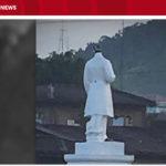 【ミンダナオ島マラウィ】テロリストとの戦闘で無残な家とリサール像