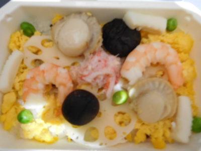 ANAの機内食ちらし寿司