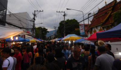チェンマイのサンデーマーケット