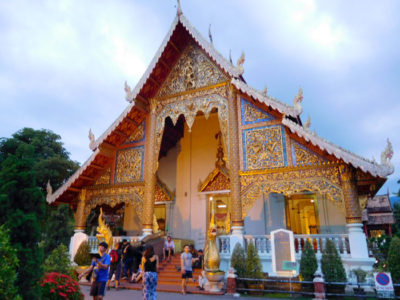 タイのチェンマイの有名な寺ワットプラシン