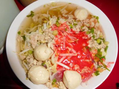 タイのおいしいラーメンクワイティアオエンタフォー