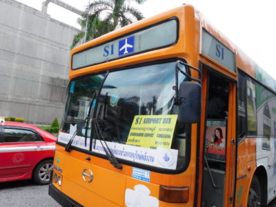 スワンナプーム国際空港からカオサン通りへのS1バス