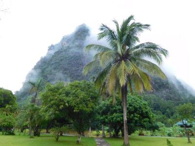 タイ北部の瞑想寺ワットタムウアの風景