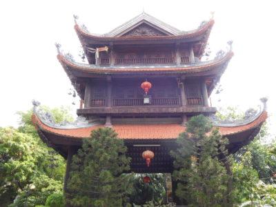 ハイフォンの有名なお寺Pho Chieu Pagodaの建物