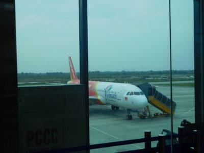 ハイフォンのカットビ国際空港のベトジェットエア