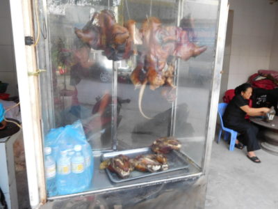 ハイフォンの犬肉を売っている食堂