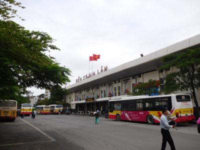 ハノイのザーラム(Gia Lam)バスターミナル