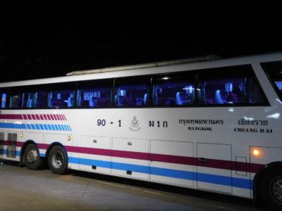 チェンライからバンコク行きの超VIPバス