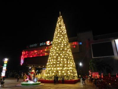 コンケンのセントラルプラザのクリスマスツリー