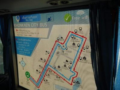 コンケンのシティバスの路線図