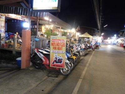 タイのパーイのレンタルバイク屋