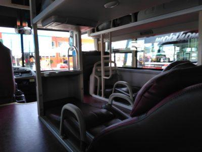 ベトナムのフンチャンバス(Futa bus)の座席