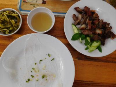 ベトナムのカントーの豚肉生春巻き