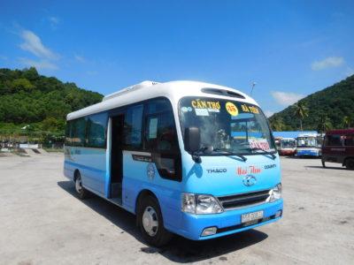 ベトナムのハティエンからカントー行きのバス
