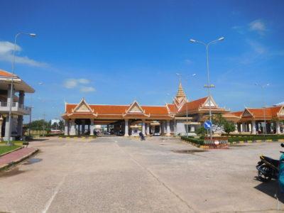 ベトナムのハティエンのカンボジアのイミグレーション