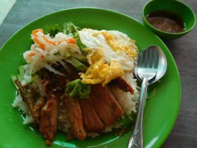 ベトナムのハティエンのBBQ豚丼