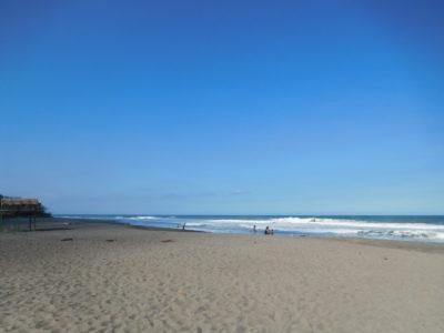 サーフィンが有名なラウニオンのサンファンビーチ