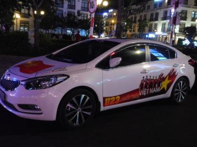 カントーのU-23アジア選手権ベトナム代表デザインの車