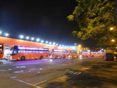 ホーチミンのミエンタイバスターミナルのフンチャンバス(Futa bus)