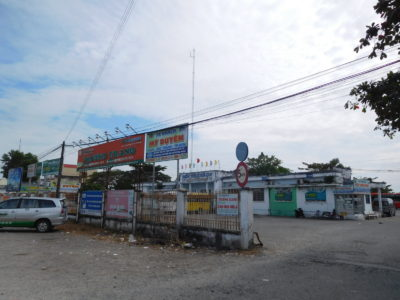 ベトナムのソクチャンのバスターミナル