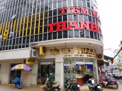 ベトナムのソクチャンの宝石屋兼両替屋