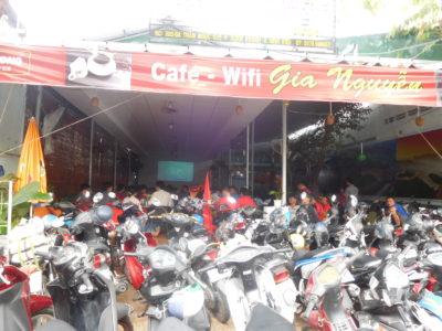 U-23アジア選手権決勝前のカントーのカフェ