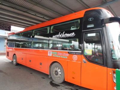 ベトナムのカントーのフンチャンバス(Futa bus)