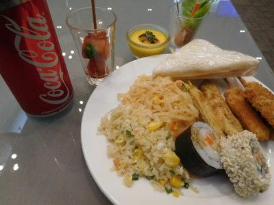 チェンマイ国際空港のプライオリティパスラウンジの食事