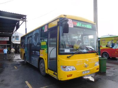 ホーチミンのミエンタイバスターミナルの空港バス119