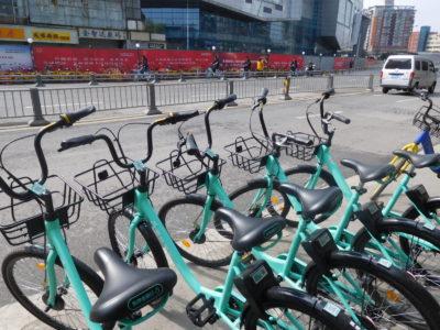 中国成都の便利なレンタル自転車