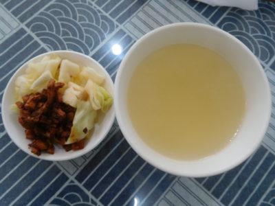 中国成都のおいしい永江本味抄手の漬物