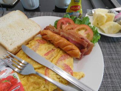 ビエンチャンのおすすめVKSホテルの朝食