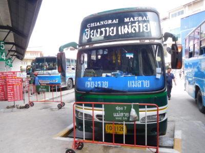 チェンライからメーサイ行きのバス