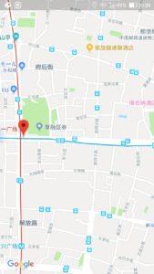 グーグルマップで示した中国長沙のホテルの間違い