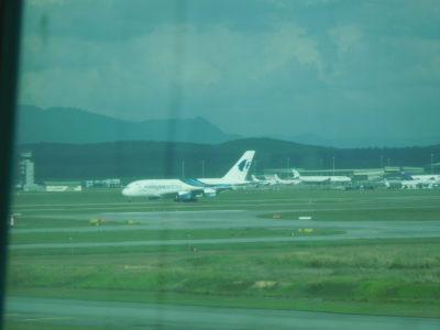 クアラルンプール国際空港のマレーシア航空機