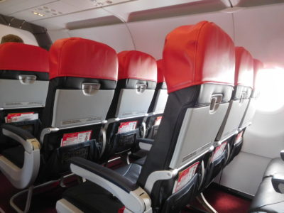 エアアジアのチェンマイクアラルンプール便の席
